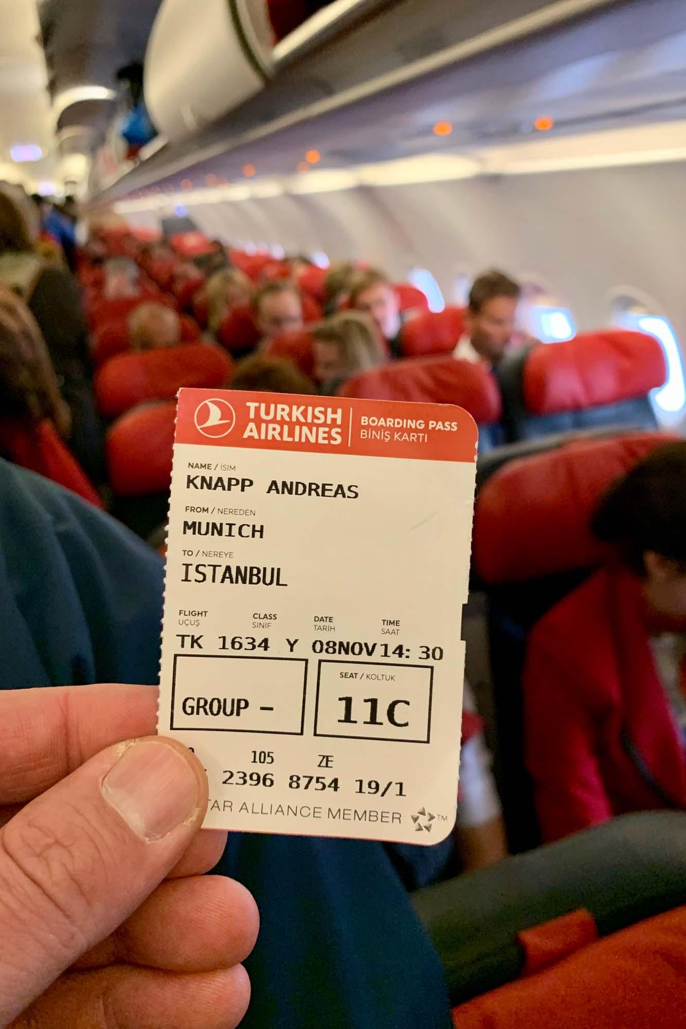 Flug nach Istanbul