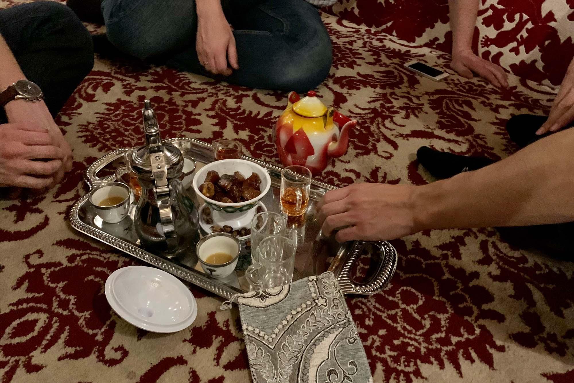 Kaffee und Tee nach dem ersten Konzert