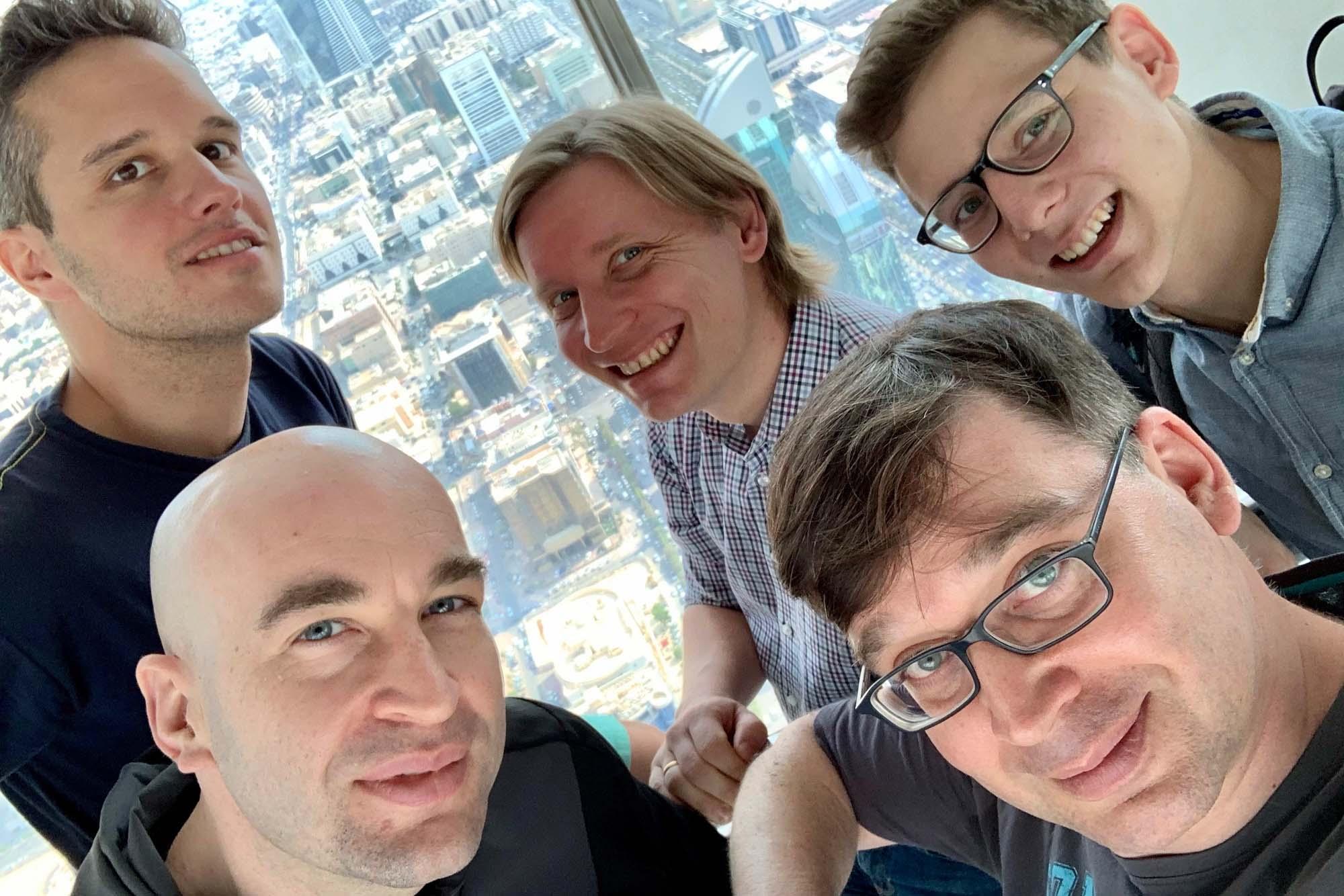 Blick vom Kingdom Tower - von Musikern versperrt